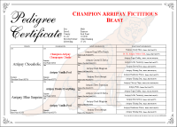 4 Generation Copperplate Pedigree