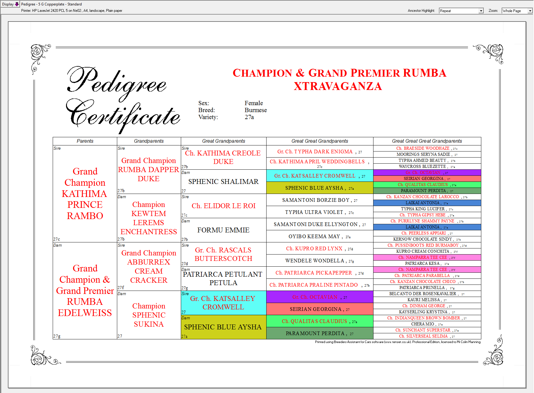 Dog Pedigree Software Uk