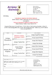 Mating Certificate