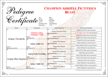 Breeders Assistant Copperplate Pedigree