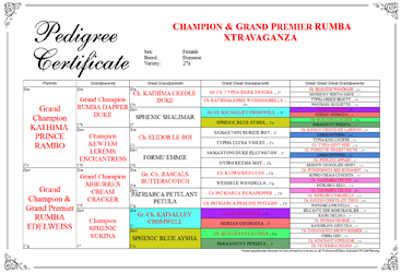 Breeders Assistant Pedigree Certificates